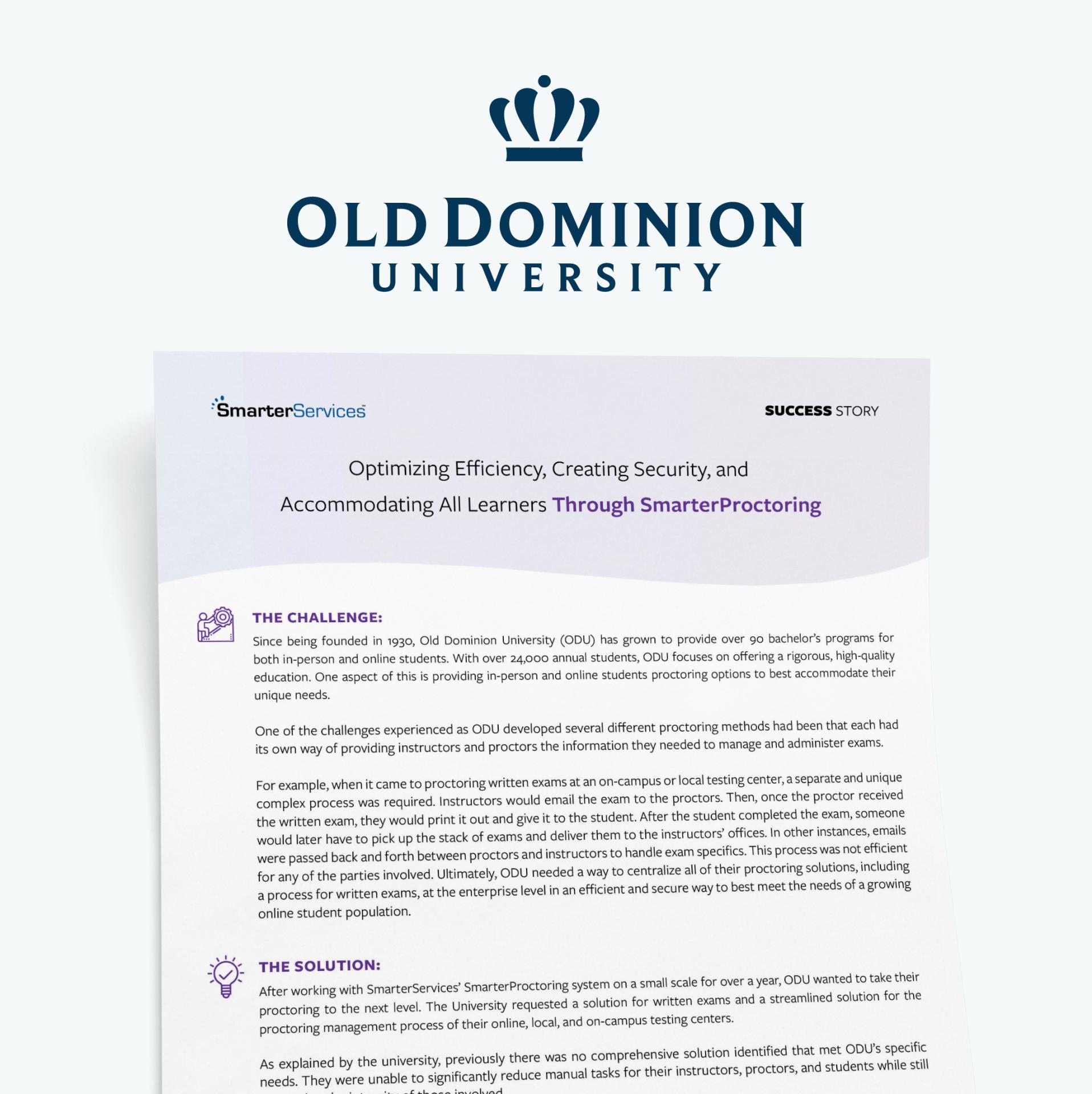 Old Dominion University Case Study