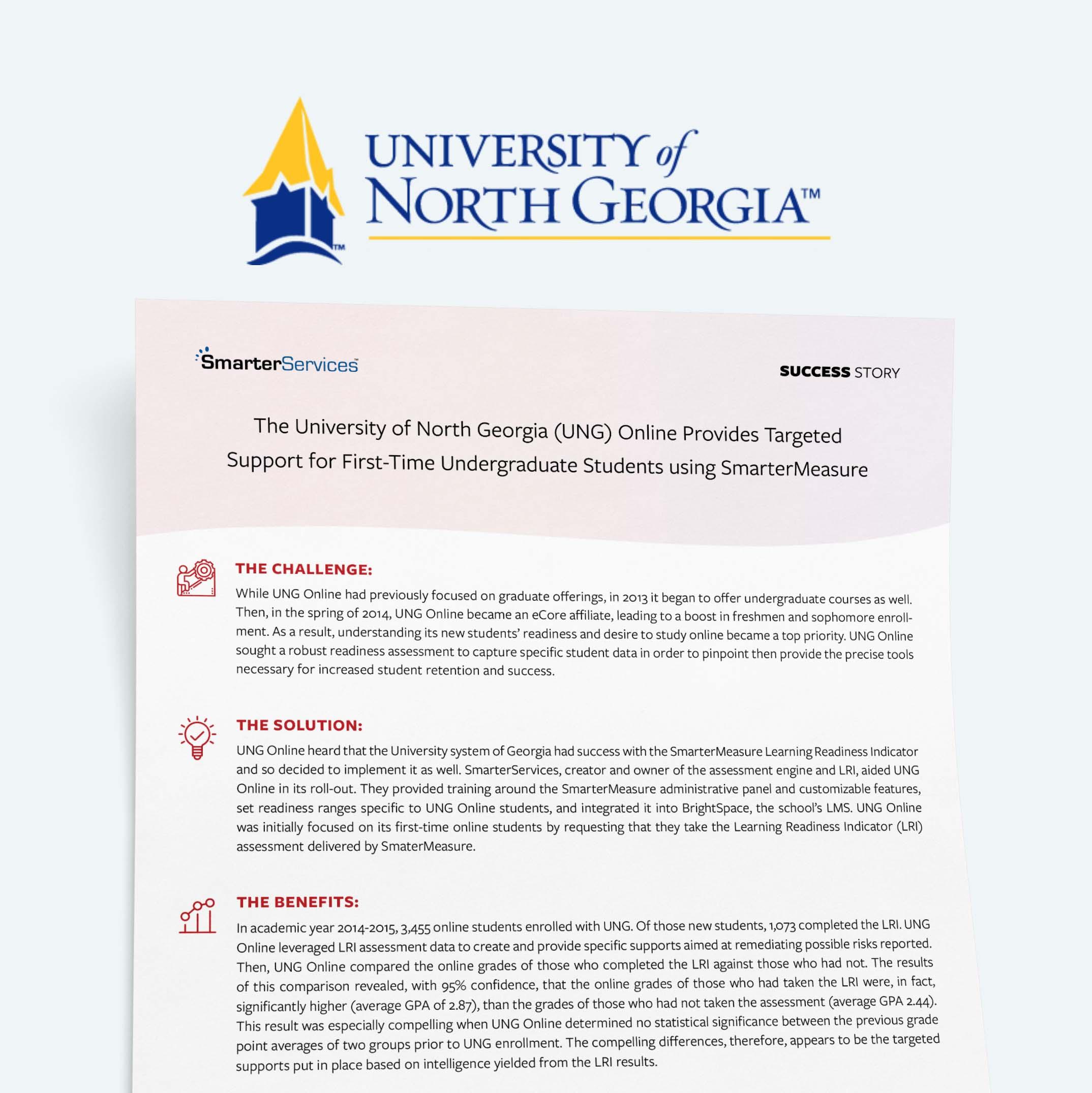 University of North Georgia SmarterMeasure Case Study